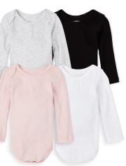Baby Girls Bodysuit 4-Pack