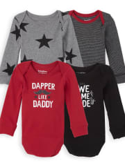 Baby Boys Dapper Bodysuit 4-Pack