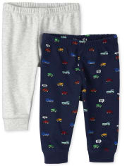 Baby Boys Transportation Pants 2-Pack