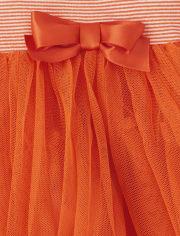 Baby Girls Halloween Pumpkin Tutu Bodysuit Dress