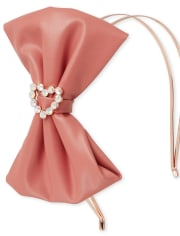 Girls Bow Double Band Metal Headband