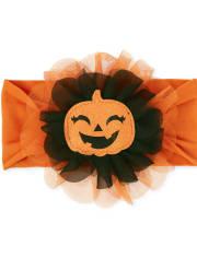 Bandeau de citrouille à paillettes d'Halloween pour bébé fille
