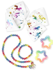 Conjunto de joyas de 6 piezas para niña Rainbow Unicorn