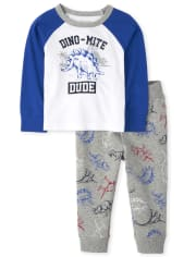 Baby And Toddler Boys Dino Mite Outfit Set