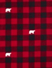 Unisex Adult Matching Family Bear Buffalo Plaid Pajamas