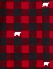 Womens Matching Family Bear Buffalo Plaid Fleece Nightgown