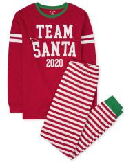 Pijama unisex de algodón de Santa del equipo de la familia a juego para adultos