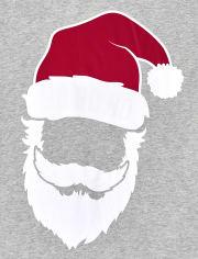 Unisex Adult Matching Family Glow Santa Striped Cotton Pajamas