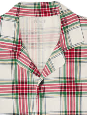 Unisex Adult Matching Family Christmas Tartan Cotton Pajamas
