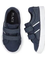Toddler Boys Denim Low Top Sneakers