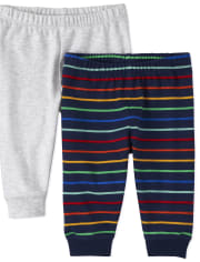 Baby Boys Striped Pants 2-Pack