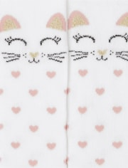 Toddler Girls Cat Tights