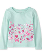 Baby And Toddler Girls Butterfly Graphic Tee