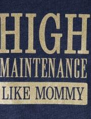 Baby And Toddler Girls Glitter High Maintenance Graphic Tee