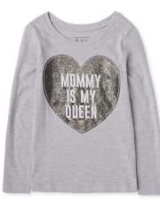 Toddler Girls Mommy Is Queen Graphic Tee