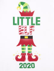 Baby And Toddler Girls Matching Family Christmas Elf Graphic Tee