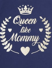 Toddler Girls Queen Like Mommy Graphic Tee