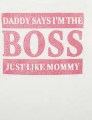 Baby And Toddler Girls Boss Graphic Tee