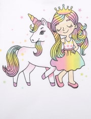 Baby And Toddler Girls Unicorn Graphic Tee 2-Pack
