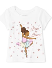Baby And Toddler Girls Ballerina Graphic Tee