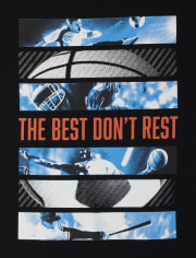 Boys Don't Rest Sports Graphic Tee