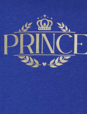 Boys Matching Family Foil Royal Graphic Tee
