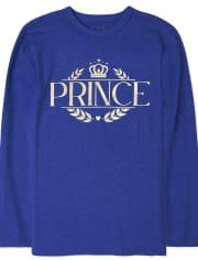 Camiseta estampada Royal Foil de la familia a juego para niños