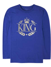 Mens Matching Family Foil Royal Graphic Tee