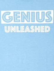 Boys Genius Unleashed Graphic Tee