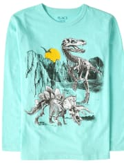 Boys Dino Skeletons Graphic Tee