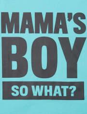 Boys Mama's Boy Graphic Tee