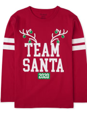 Unisex Kids Matching Family Christmas Team Santa Graphic Tee