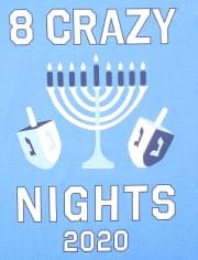 Camiseta unisex con estampado familiar Hanukkah 2020 para niños