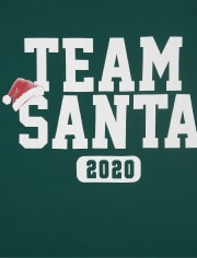 Unisex Adult Matching Family Christmas Team Santa Graphic Tee