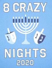 Camiseta unisex con gráfico de Hanukkah 2020 de la familia a juego para adultos