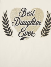 Girls Mom Daughter Graphic Tee 2-Pack