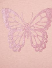 Girls Butterfly Graphic Tee 2-Pack