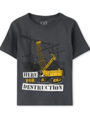 Baby And Toddler Boys Destruction Graphic Tee