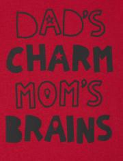 Camiseta estampada Charm And Brains para bebés y niños pequeños
