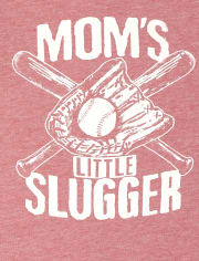 Baby And Toddler Boys Mom's Slugger Graphic Tee