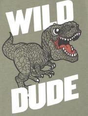 Camiseta con estampado Wild Dino para bebés y niños pequeños