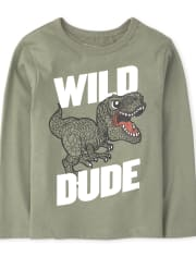 Baby And Toddler Boys Wild Dino Graphic Tee