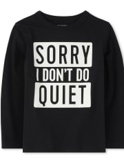 Baby And Toddler Boys Quiet Graphic Tee