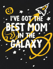 Baby And Toddler Boys Best Mom In The Galaxy Graphic Tee