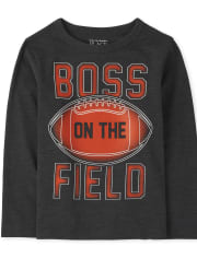 Baby And Toddler Boys Football Boss Graphic Tee