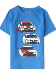 Baby And Toddler Boys Racecar Graphic Tee
