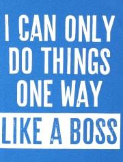 Boys Like A Boss Graphic Tee