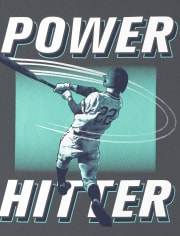 Boys Power Hitter Baseball Graphic Tee