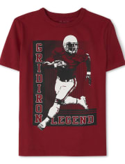 Boys Football Player Graphic Tee