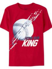 Boys Home Run King Baseball Graphic Tee